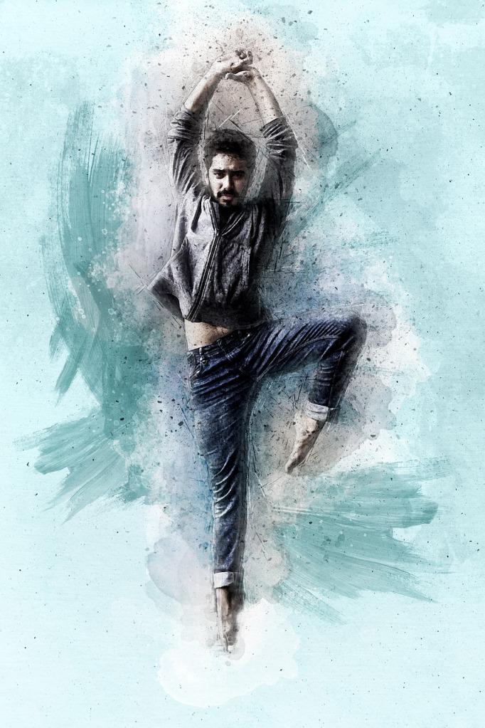 tanssiva mies